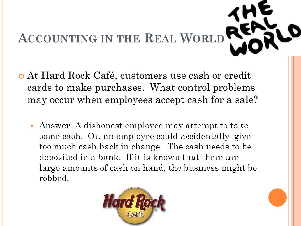 Accounting in the Real World