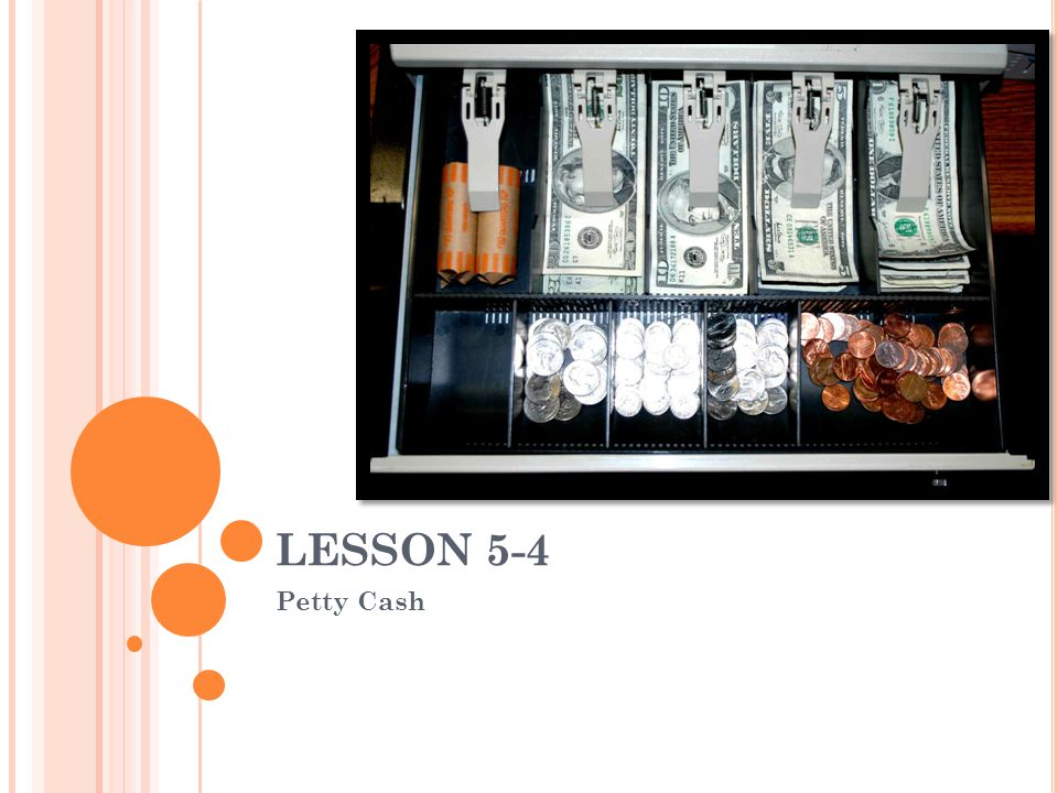 LESSON 5-4 4/1/2017 LESSON 5-4 Petty Cash Blue