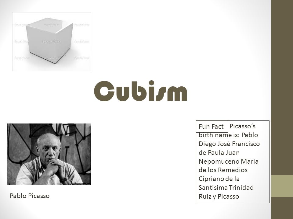 Cubism Fun Fact.