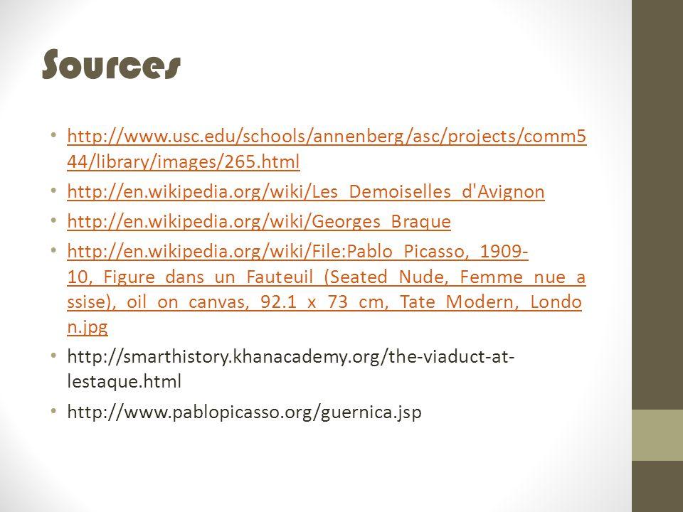 Sources http://www.usc.edu/schools/annenberg/asc/projects/comm544/library/images/265.html. http://en.wikipedia.org/wiki/Les_Demoiselles_d Avignon.