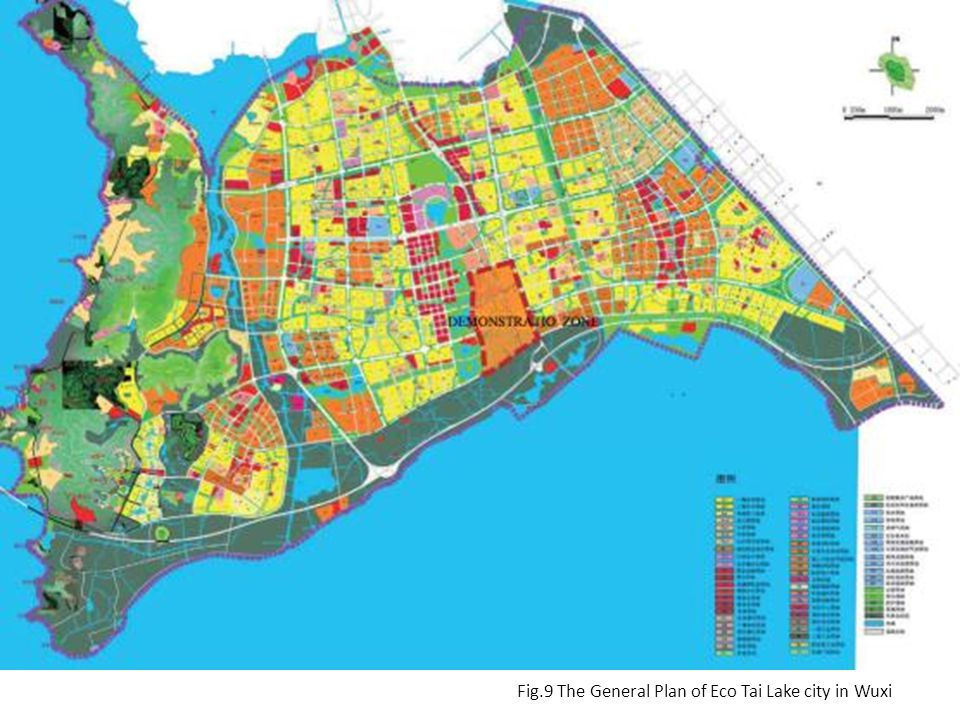 Fig.9 The General Plan of Eco Tai Lake city in Wuxi