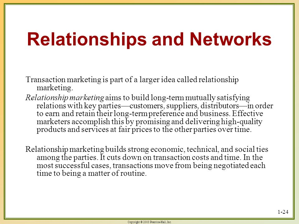 Relationships and Networks