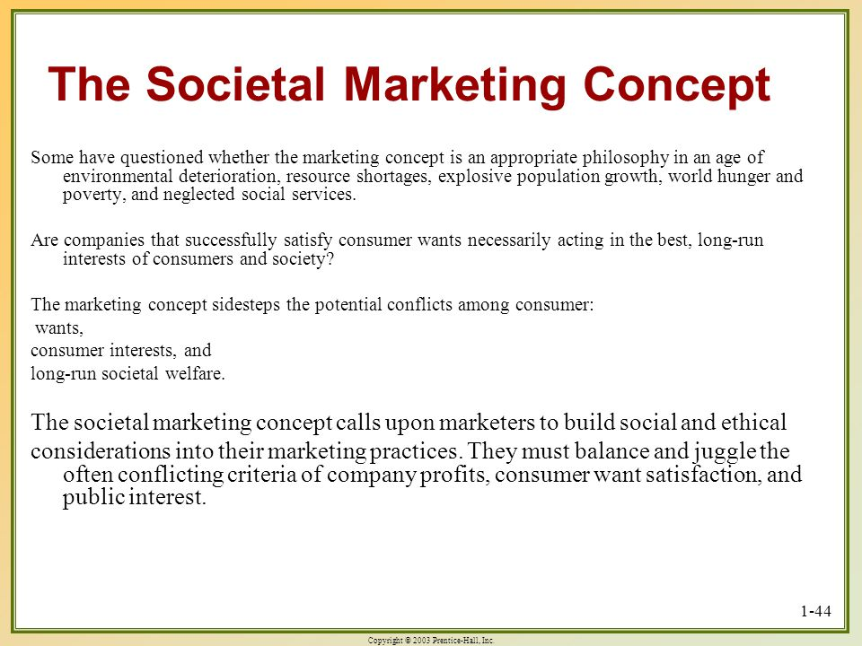 The Societal Marketing Concept