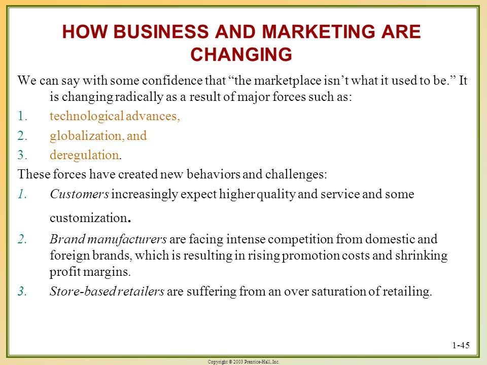 HOW BUSINESS AND MARKETING ARE CHANGING
