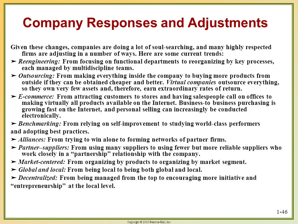 Company Responses and Adjustments