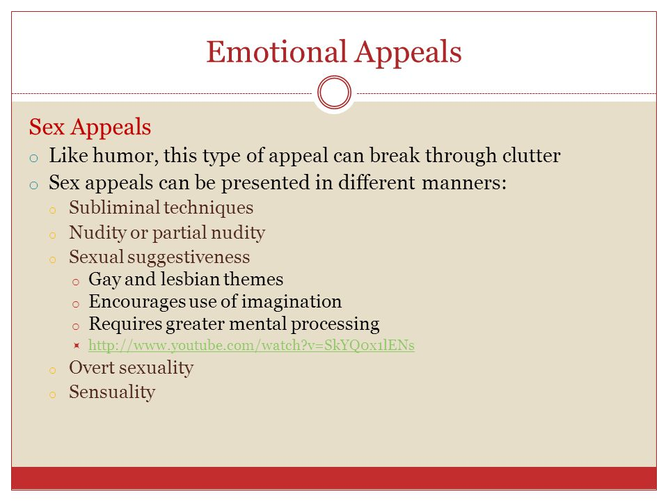Emotional Appeals Sex Appeals