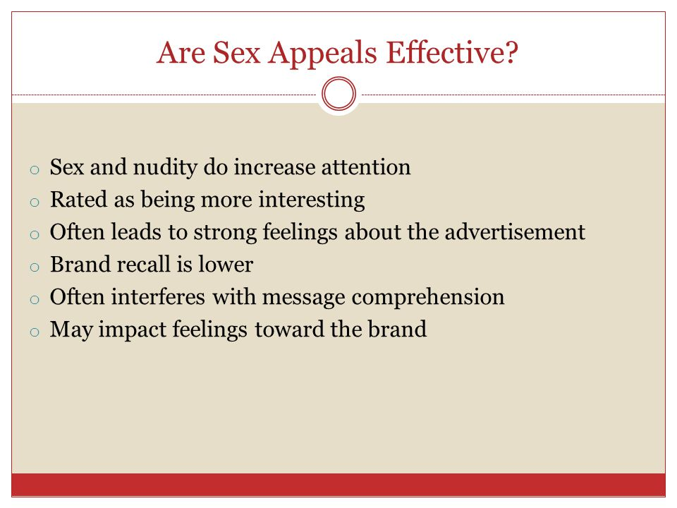 Are Sex Appeals Effective