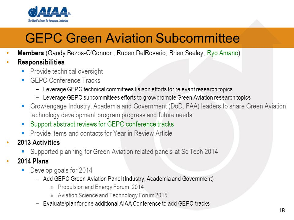 GEPC Green Aviation Subcommittee