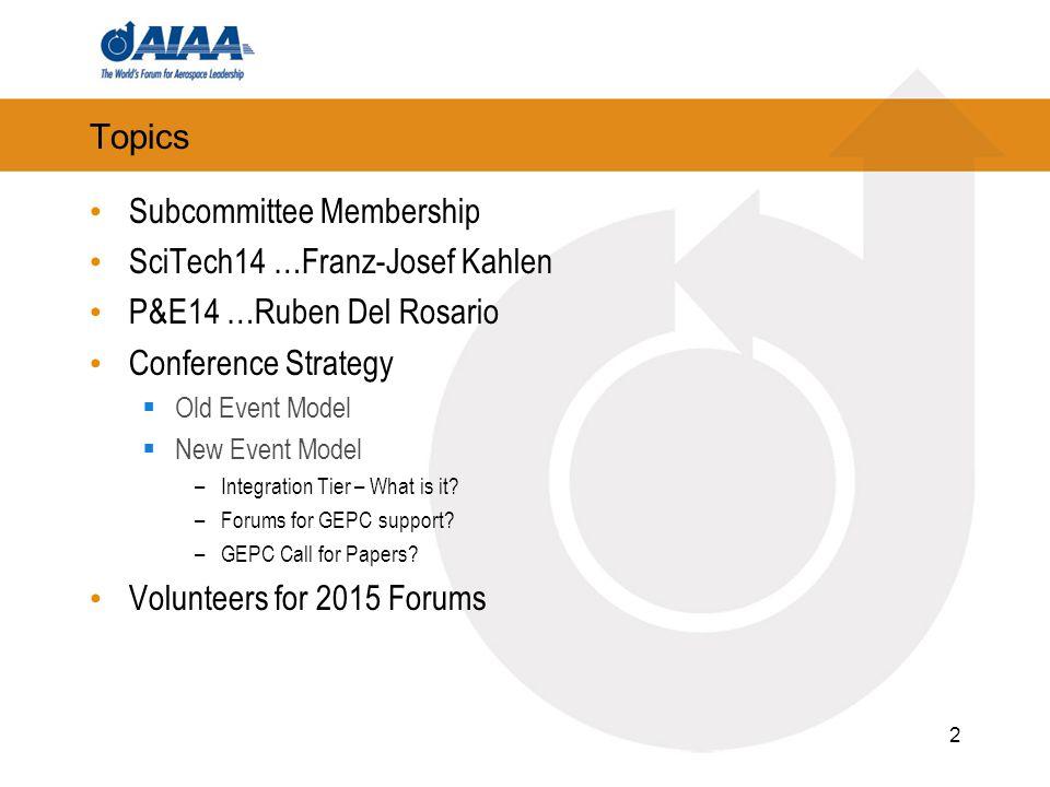 Subcommittee Membership SciTech14 …Franz-Josef Kahlen