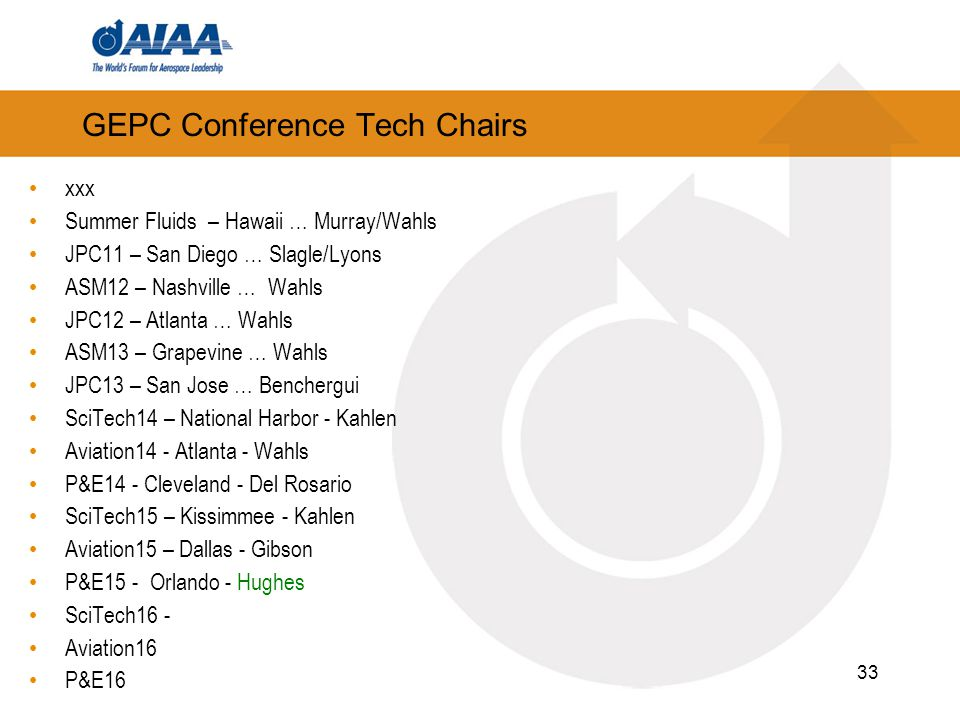GEPC Conference Tech Chairs