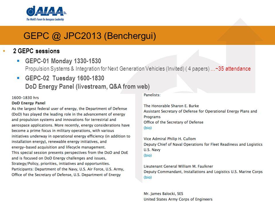 GEPC @ JPC2013 (Benchergui)