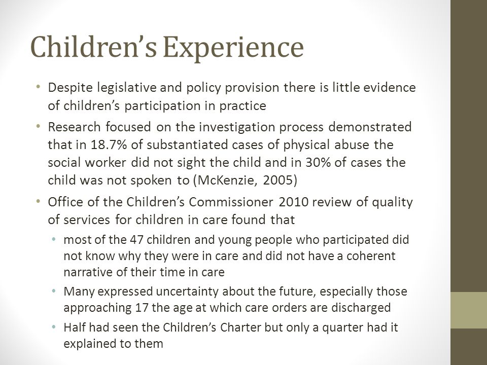 Children's Experience