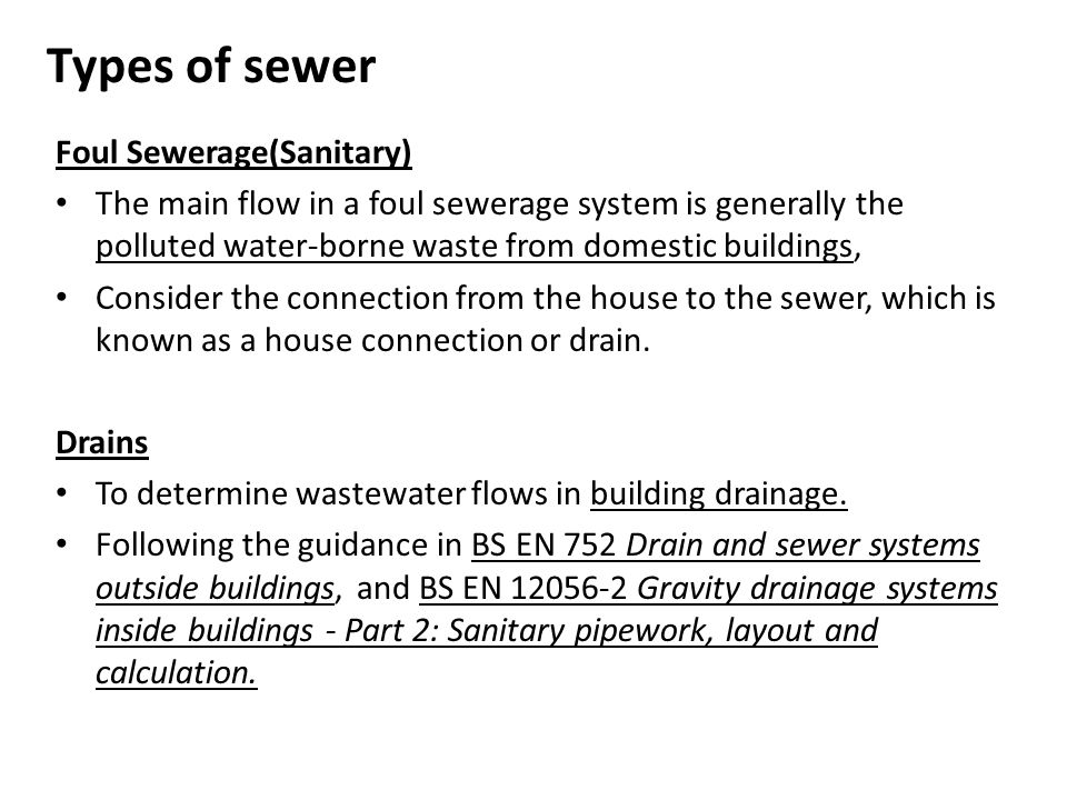 Sewerage system design ppt video online download for Types of drainage system in building