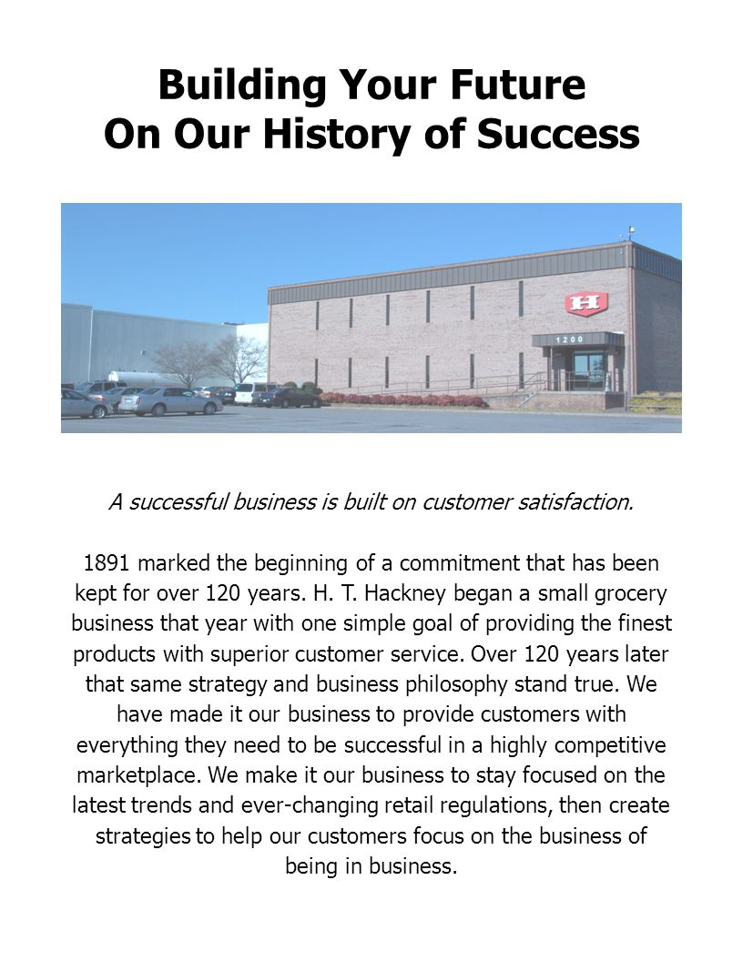 On Our History of Success