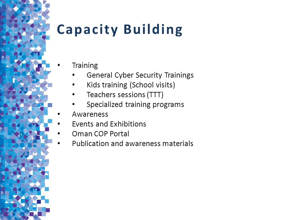 Capacity Building Training General Cyber Security Trainings