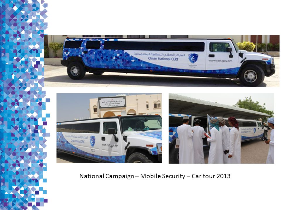 National Campaign – Mobile Security – Car tour 2013