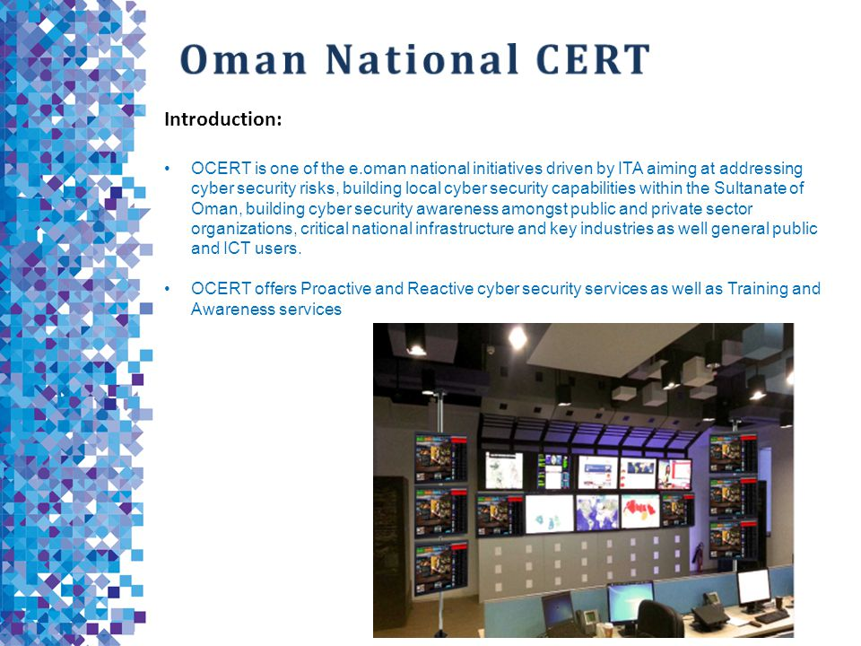 Oman National CERT Introduction: