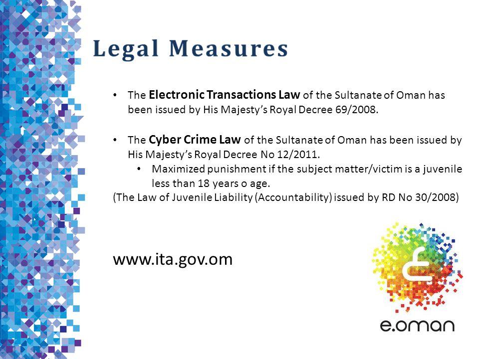 Legal Measures www.ita.gov.om