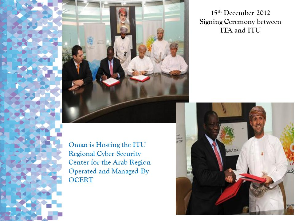 Signing Ceremony between ITA and ITU