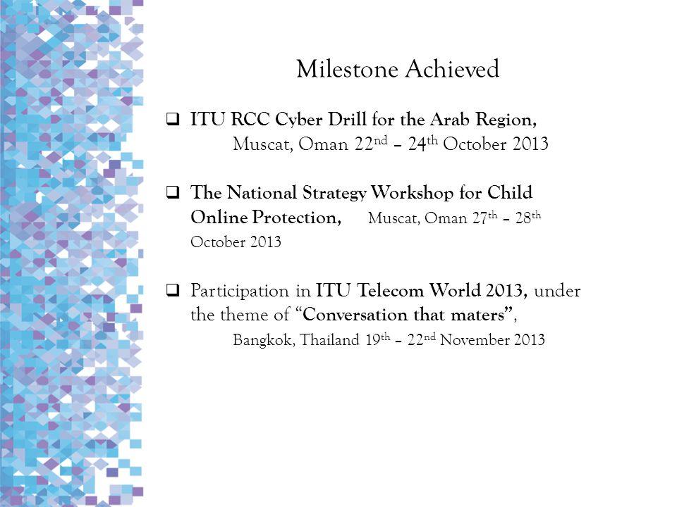 Milestone Achieved ITU RCC Cyber Drill for the Arab Region,