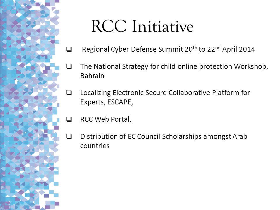 RCC Initiative Regional Cyber Defense Summit 20th to 22nd April 2014