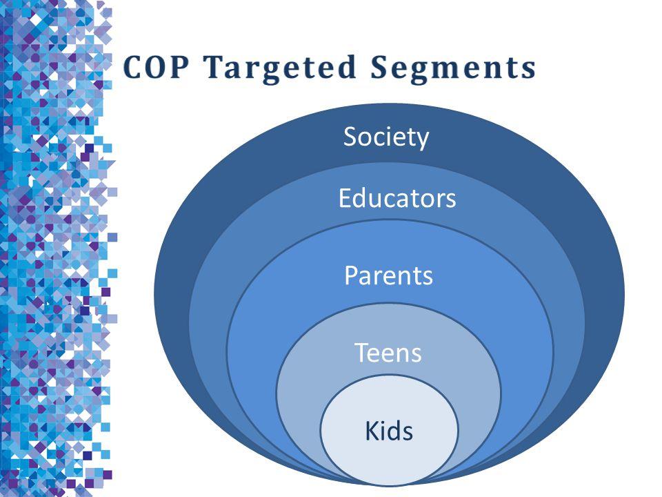 COP Targeted Segments Society Educators Parents Teens Kids