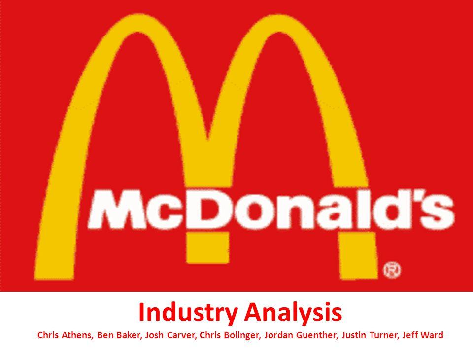 Industry Analysis Chris Athens, Ben Baker, Josh Carver, Chris Bolinger, Jordan Guenther, Justin Turner, Jeff Ward