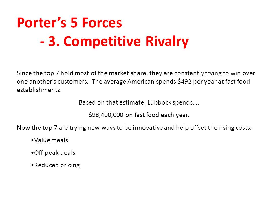 Porter's 5 Forces - 3. Competitive Rivalry