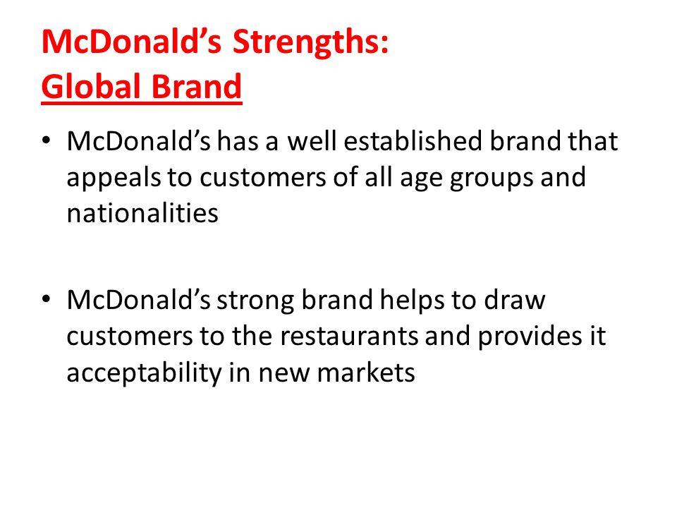 McDonald's Strengths: Global Brand