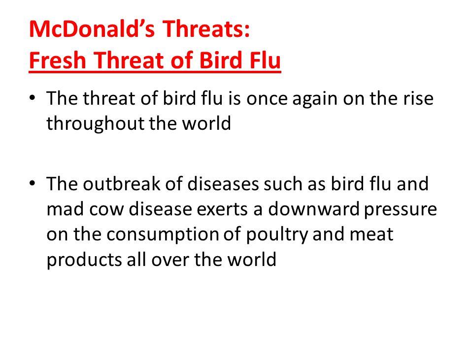 McDonald's Threats: Fresh Threat of Bird Flu