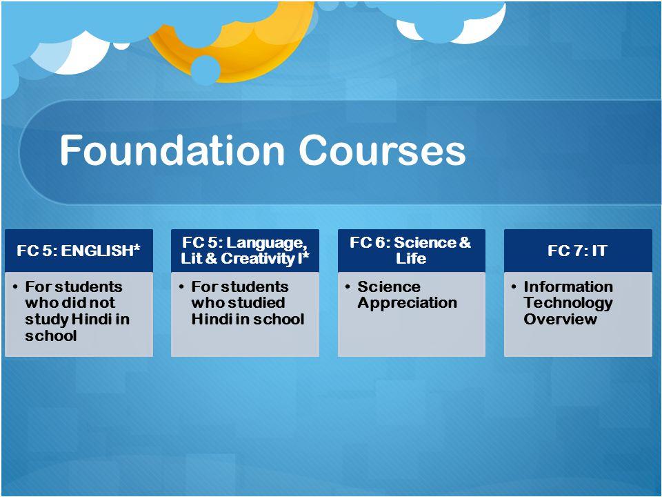 FC 5: Language, Lit & Creativity I*