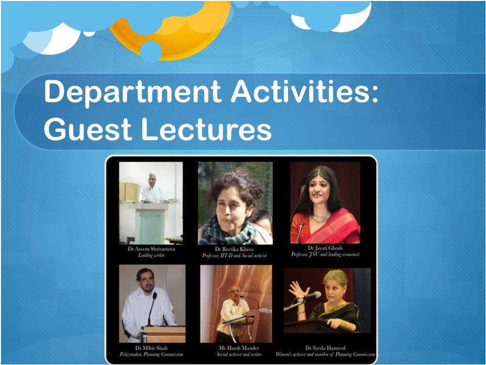Department Activities: Guest Lectures