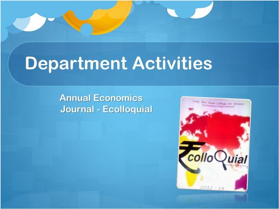Department Activities