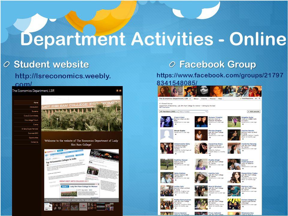 Department Activities - Online