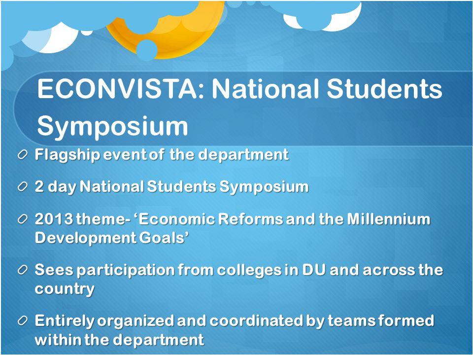 ECONVISTA: National Students Symposium