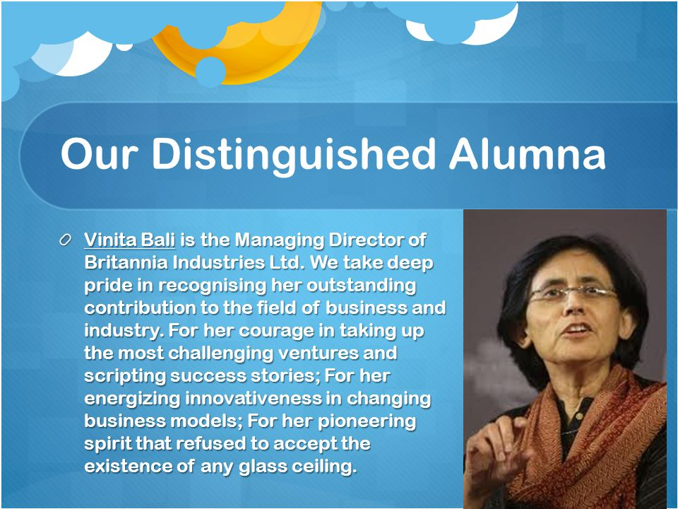 Our Distinguished Alumna