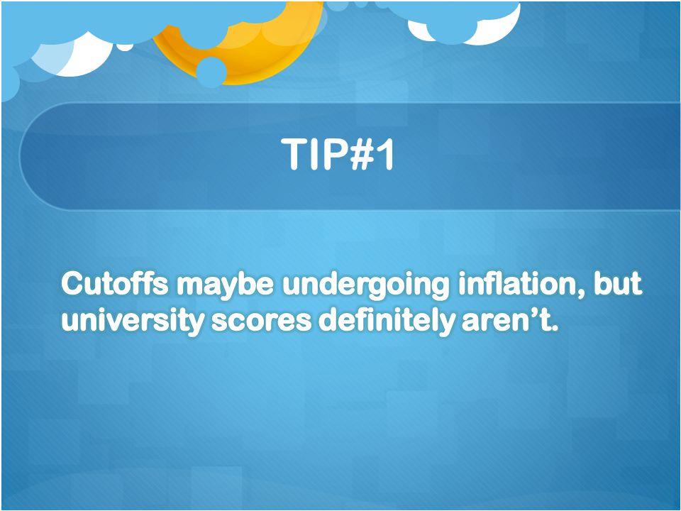 Cutoffs maybe undergoing inflation, but university scores definitely aren't.