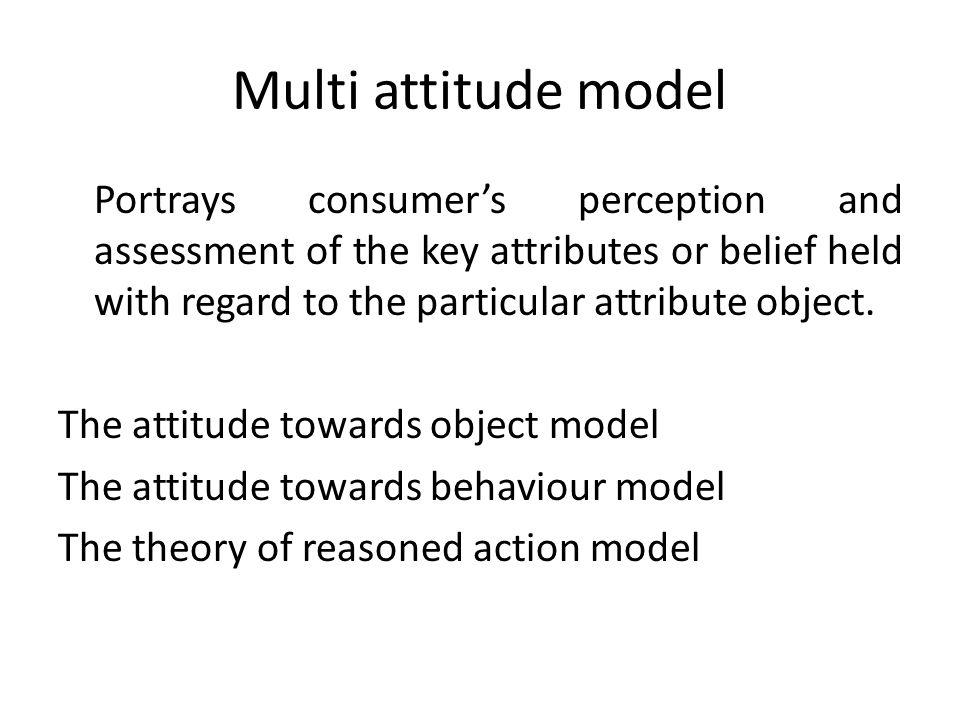 Multi attitude model
