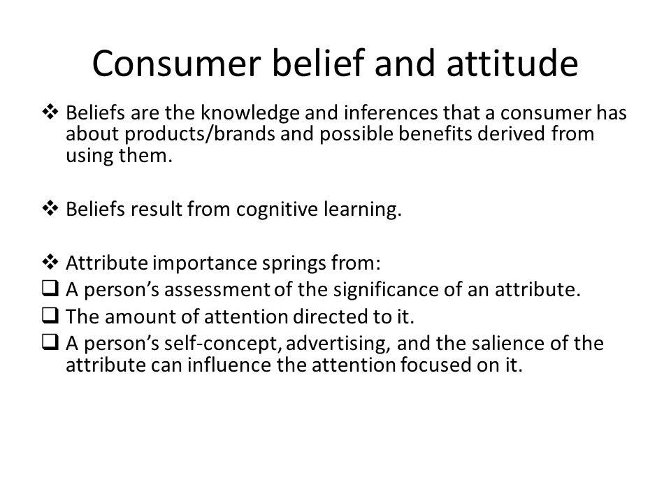 Consumer belief and attitude