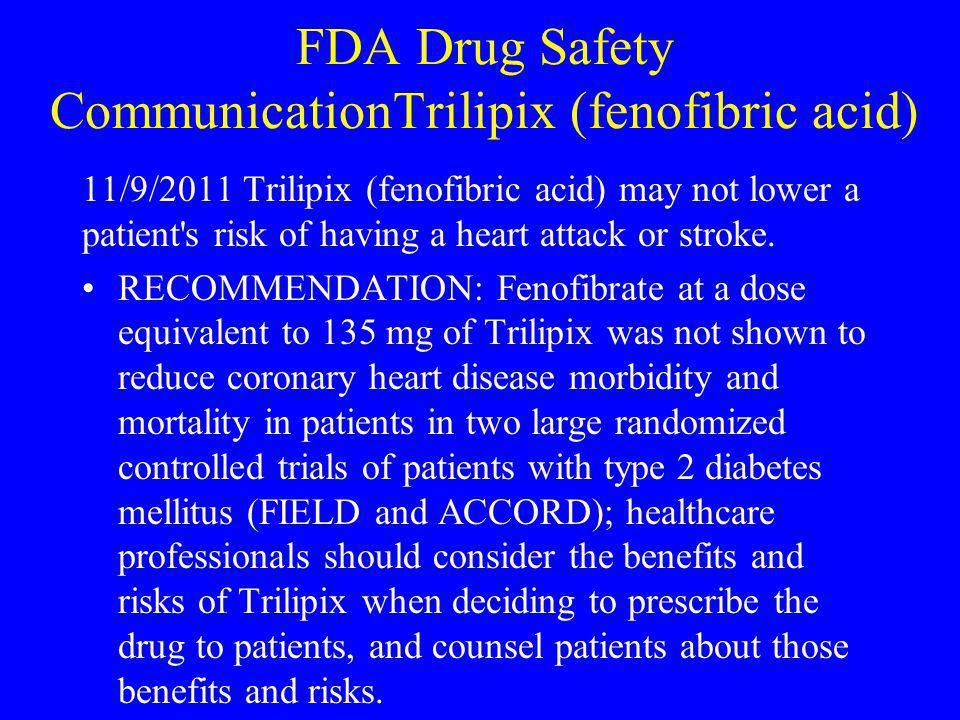 FDA Drug Safety CommunicationTrilipix (fenofibric acid)