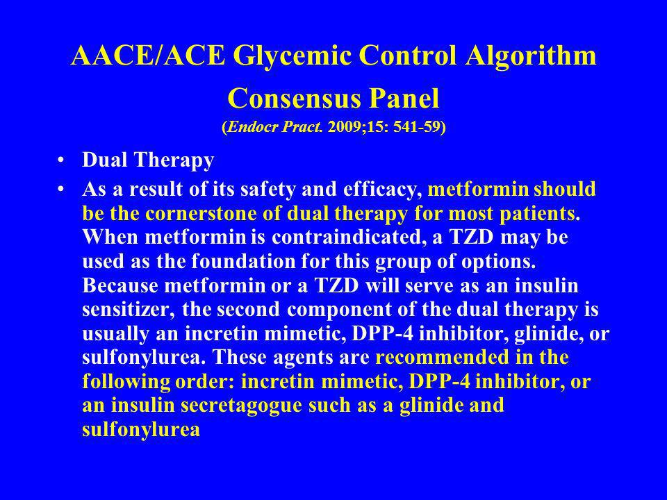 AACE/ACE Glycemic Control Algorithm Consensus Panel (Endocr Pract