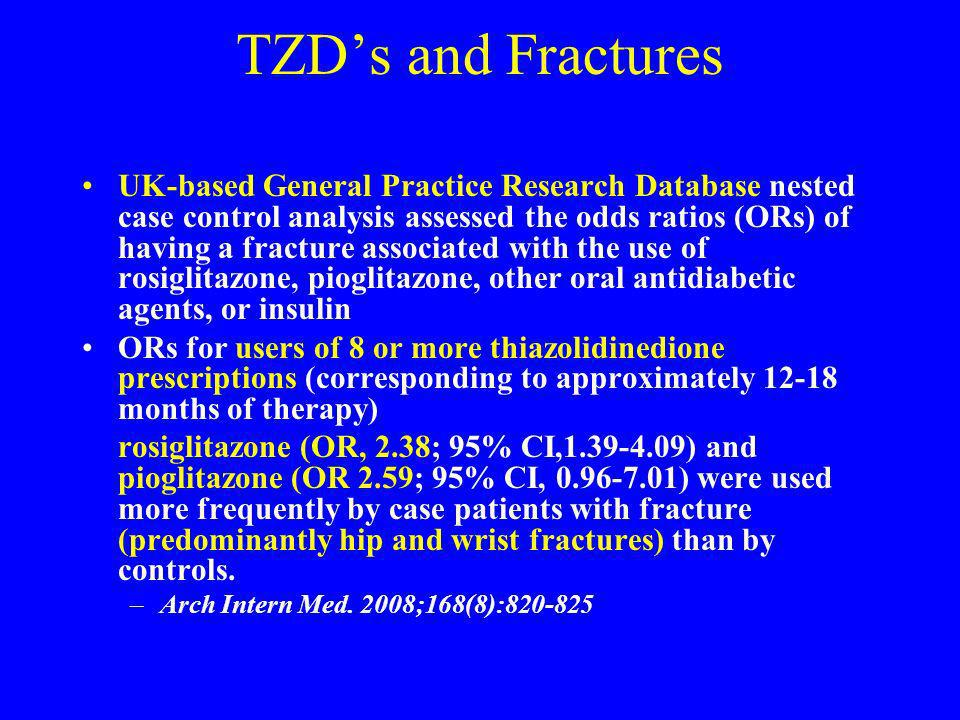 TZD's and Fractures