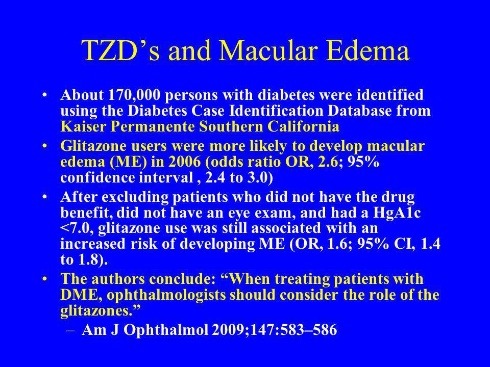 TZD's and Macular Edema