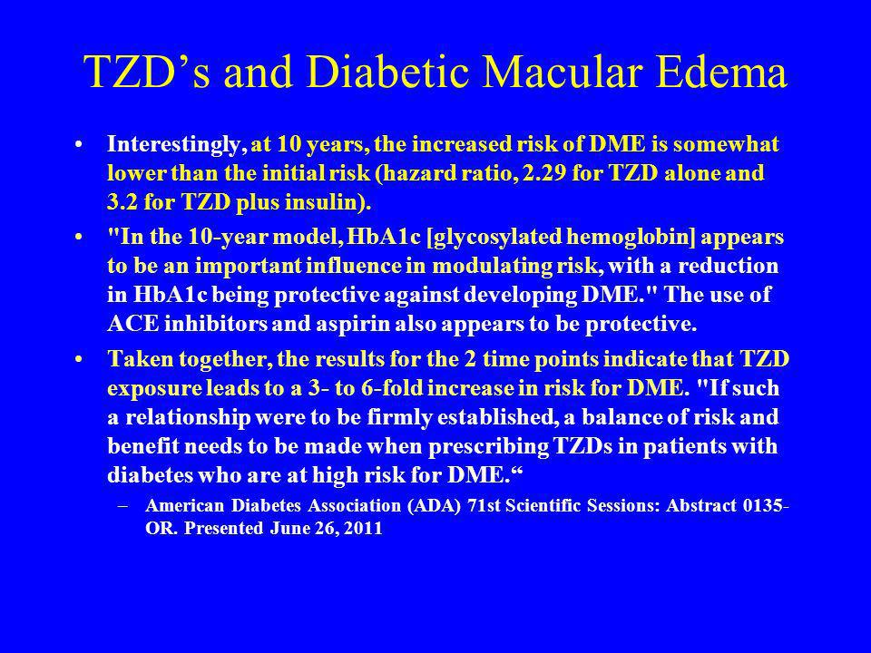 TZD's and Diabetic Macular Edema