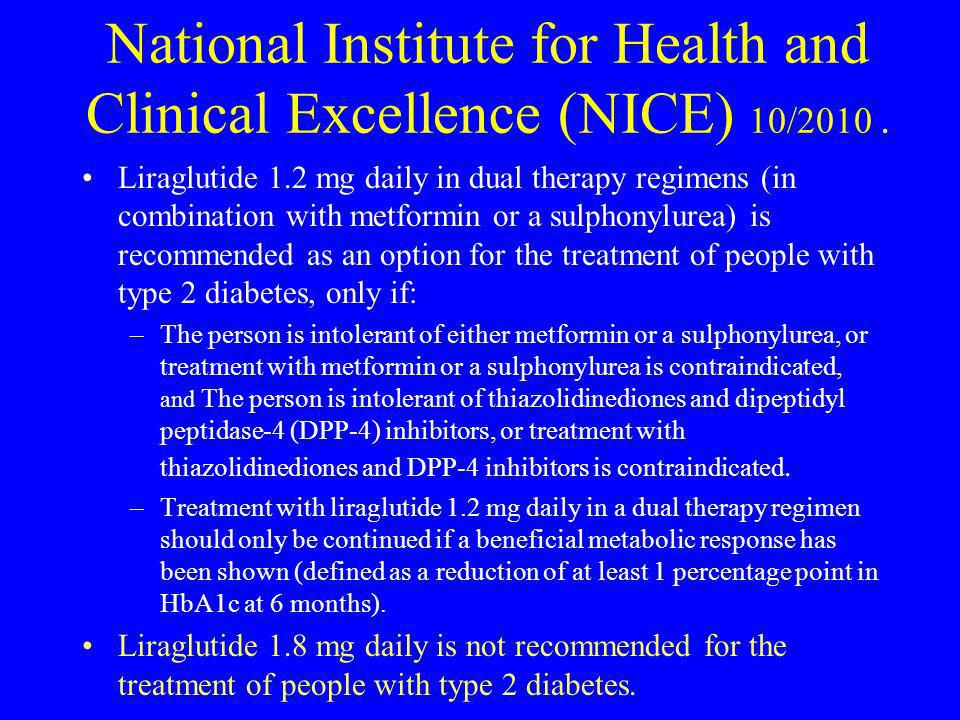National Institute for Health and Clinical Excellence (NICE) 10/2010 .