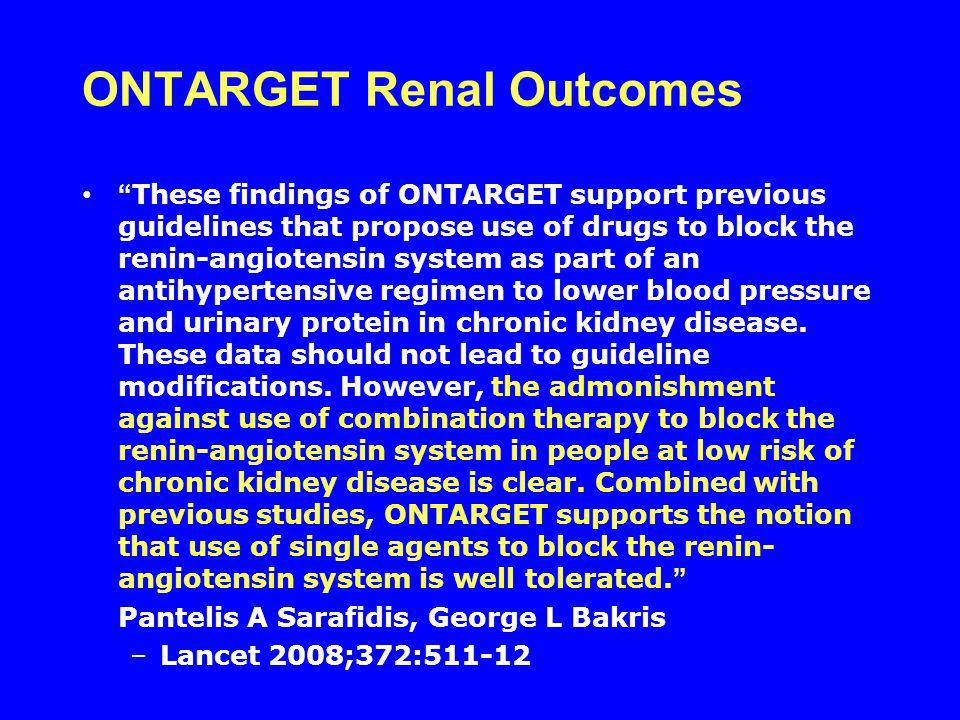 ONTARGET Renal Outcomes