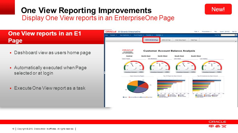 One View Reporting Improvements