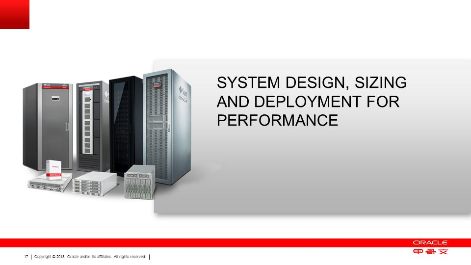 System Design, Sizing and Deployment for Performance