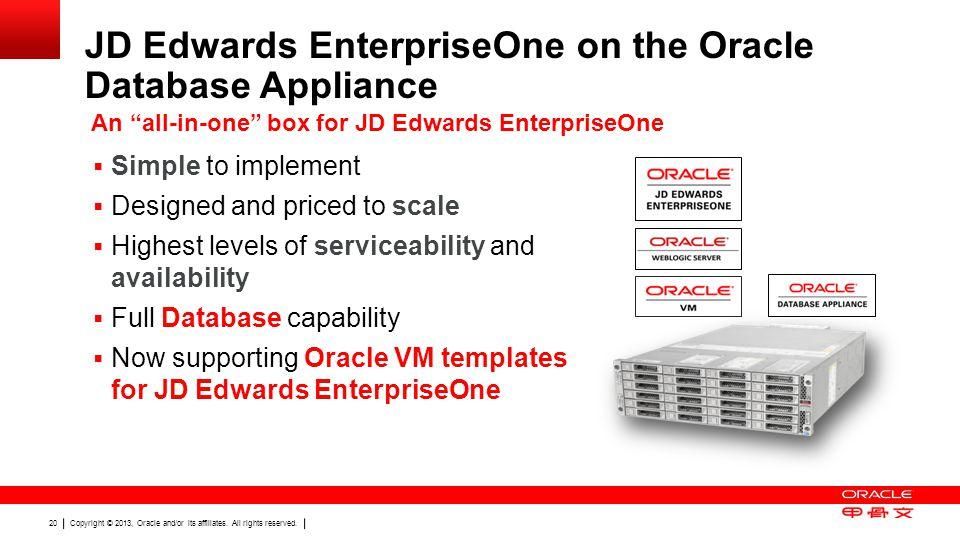 JD Edwards EnterpriseOne on the Oracle Database Appliance