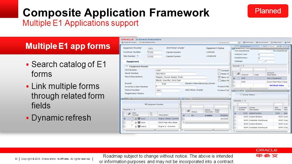Composite Application Framework